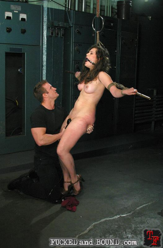 Picture of slave Charlotte Vale tied and fucked with vibrator toy