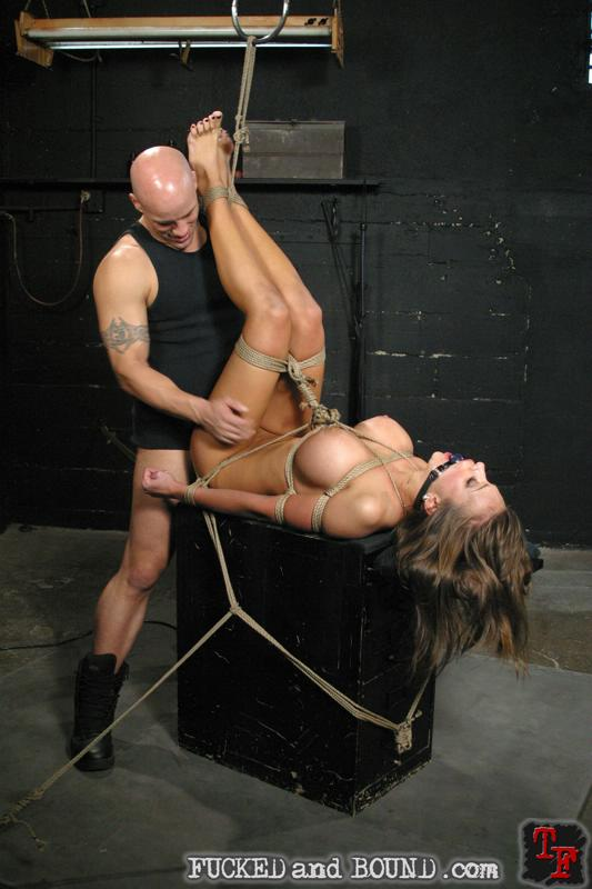Picture of slavegirl Nika Noire tied with ropes and fucked hardcore