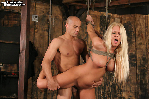 Picture of Riley Evans in bondage and fucked