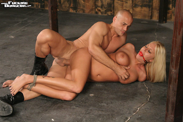 Image of Riley Evans in bondage and fucked hardcore