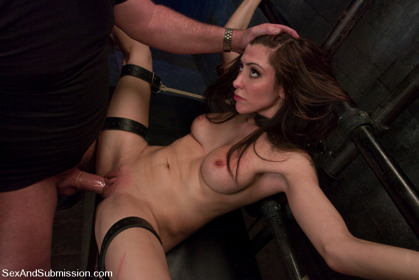 Picture of MILF Princess Donna exposed in bondage and fucked in her pussy
