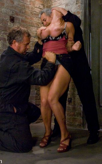 Sexy photo of Christina Carter is being captured by two sex maniacs