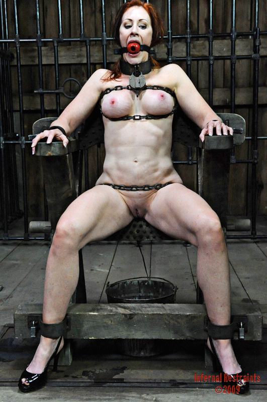 MILF lady bound and chained