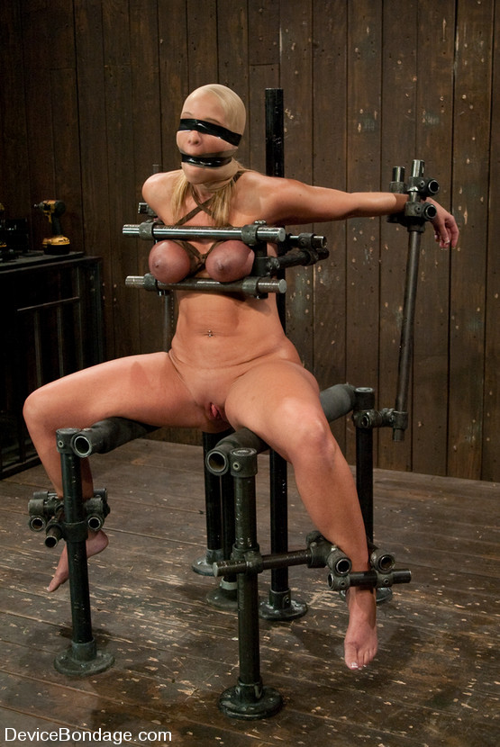 This BDSM fixture used for motionless holding of a female body