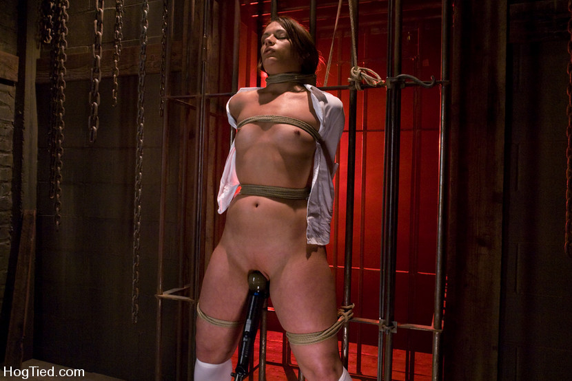 Exposed girl becomes a subject of BDSM torture