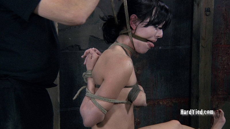 Hardcore bondage for gagged girl