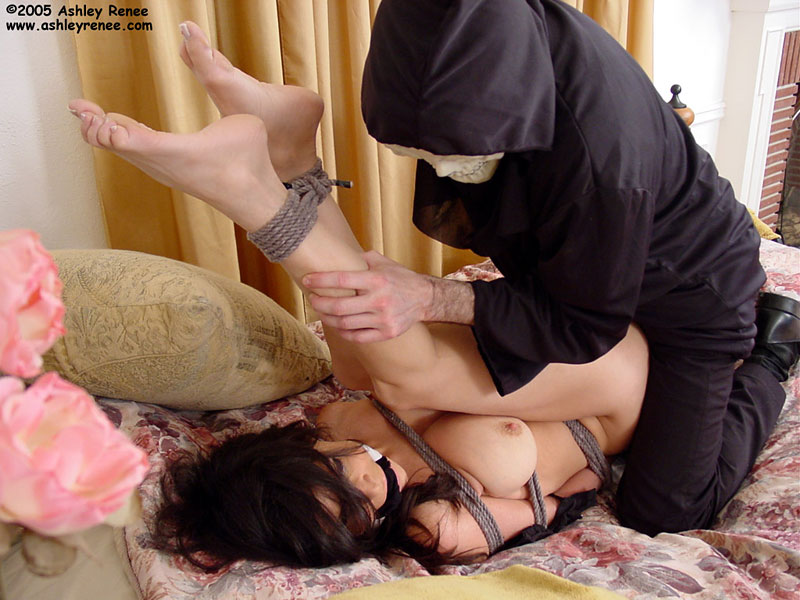 MILF housewife is totally helpless in bondage and now is being fucked by force