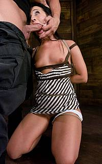 Ashli Orion forced bondage blowjob (Jul 2008)