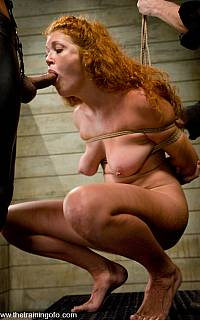 Sabrina Fox forced bondage blowjob