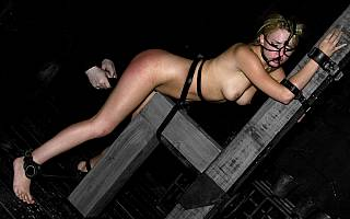 Lexi Belle exposed in bondage