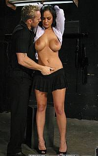 Angelina Valentine stripped and bound