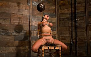 Nude bondage slave Charley Chase tortured painfully