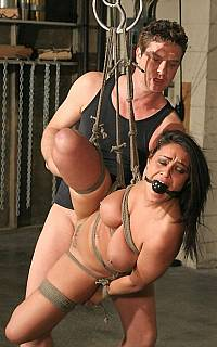 Charley Chase suspended BDSM sex (Mar 2009)
