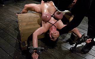 Claire Dames in bondage and tortured by BDSM master