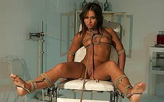 Teen slave Sandra in bondage (Apr 2009)