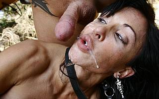 Bondage cumshot for a BDSM MILF slave (Feb 2010)