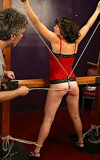 Pussy hook for slave in bondage