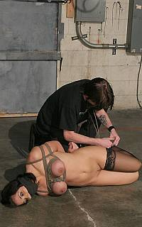 Really sexy breast bondage