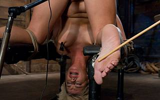 Girl bastinado foot whipping
