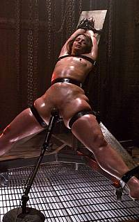 One of Hogtied bizarre torture devices