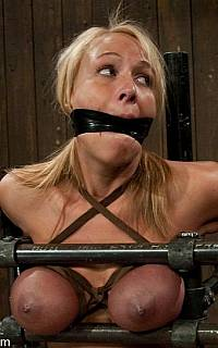Big tits smashed in this BDSM torture