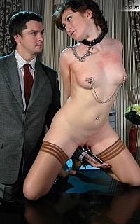 Nipple clamps pussy torture (Sep 2010)