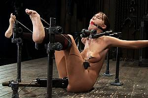 Bound female having orgasms in bondage