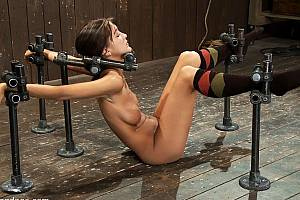 BDSM torture fixture made from pipes