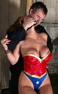 Abduction of a sexy Wonder Woman