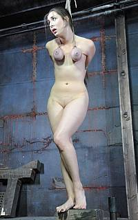 Medieval torture requires this girl to be nude and bound (Jan 2011)