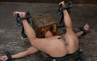 BDSM device used to hold naked girl motionlessly (Feb 2011)