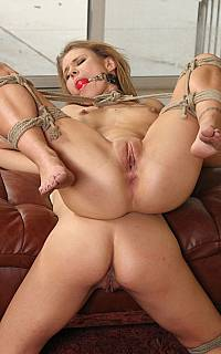 Couple of girls ready to be fucked in bondage
