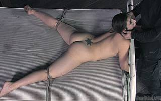 Tied to bed blowjob training