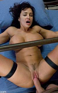 Tied to bed vaginal penetration