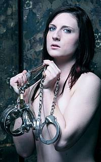 Would you like to put the girl in steel cuffs?