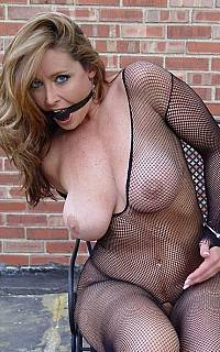 Bondage woman got sexy breasts