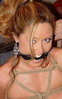 Christina prefer her gag to be tight