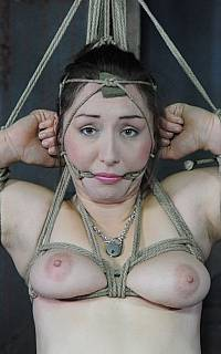 Rope gagged woman