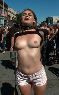 Public undressing of tied wife (Oct 2011)