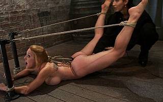 Bastinado slave is fucked with sex toy (Nov 2011)