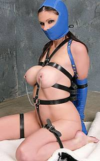 Nipple clamps slave Ashley Renee (Jan 2012)