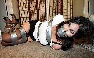 Ashley Renee bound and gagged with tape (Jan 2012)