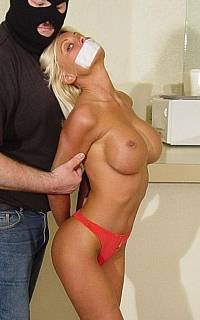 Undressing tied girl by force