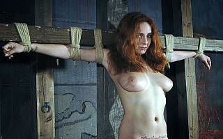 Medieval bondage for sexy girl (May 2012)