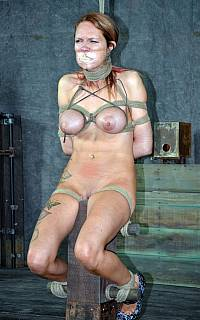 MILF is asnhyxiated with rope noose over her neck