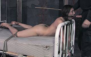 Cock sucking wife in bondage and whipped (Jun 2012)