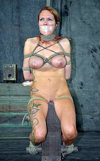 Woman is undressed, gagged and tortured
