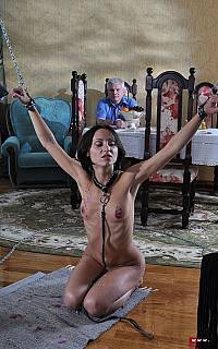 Bound wife is fed well with semen (Sep 2012)