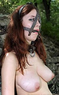Iona Grace is gagged and handcuffed