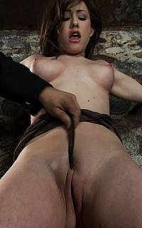Pussy tortured with panties